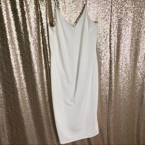 White Stretch Midi Dress XL